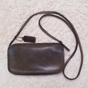 Coach Dark Green Leather Crossbody Bag